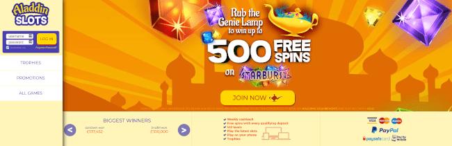 Aladdin Slots Alternative