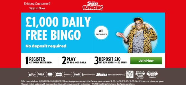 Sun Bingo Alternative