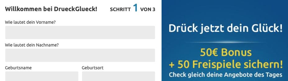 DrückGlück Login